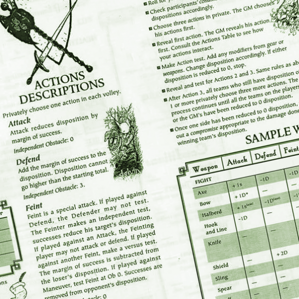 Mouse Guard Character Sheet Header
