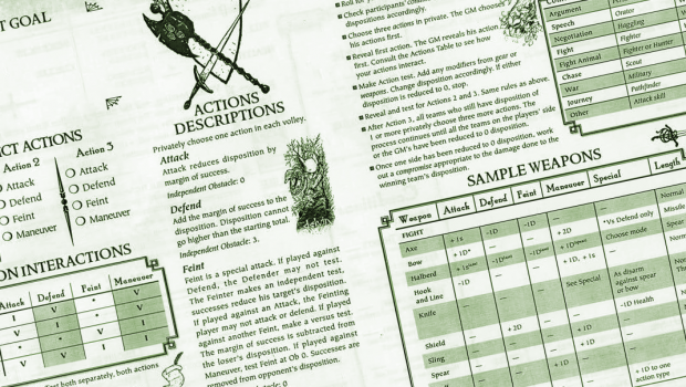 Mouse Guard Character Sheet Header
