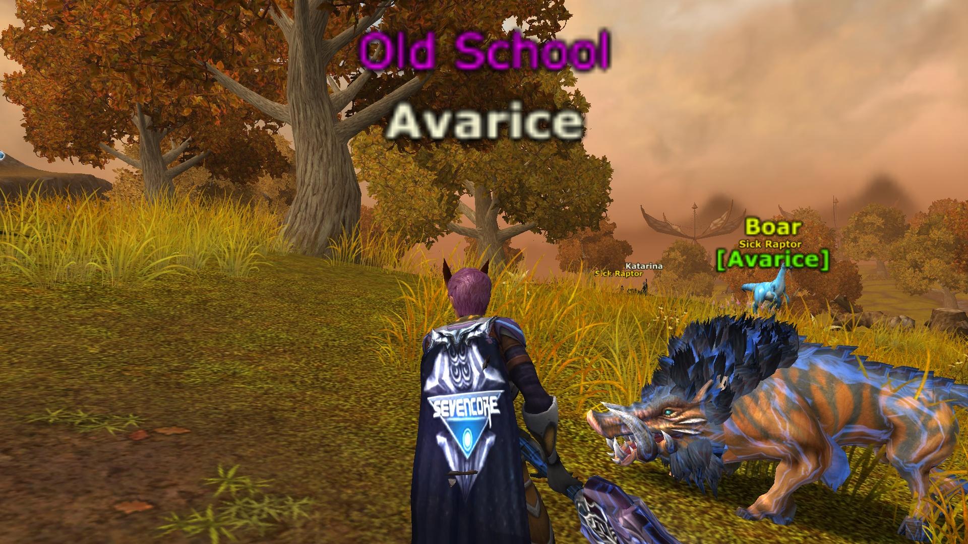 Sevencore cloak on boar mount