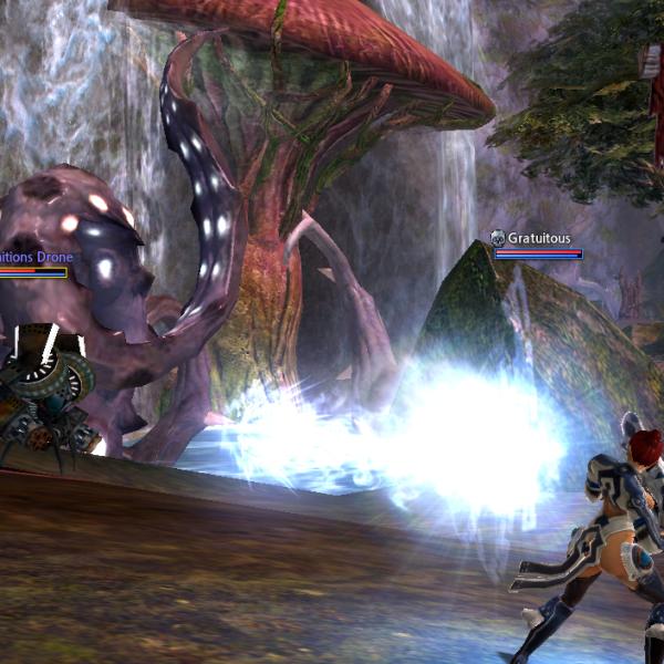 Arkana shoots her big gun.