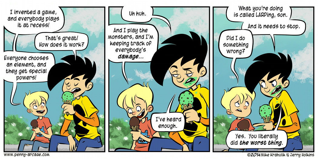 Just had a Penny Arcade conversation with my son. (cvd6262 ...