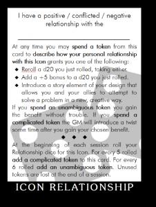 Icon Relatoinship Card