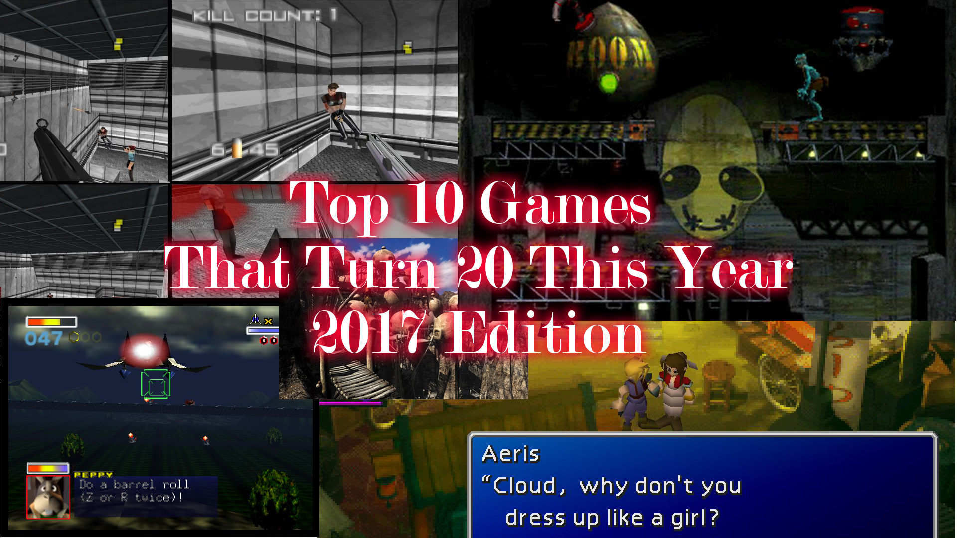 Top 10 games that turn 20 this year.